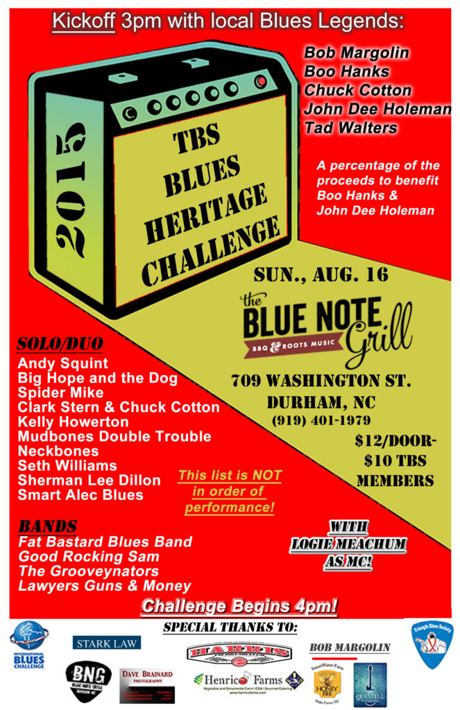 2015 Blues Challenge Poster
