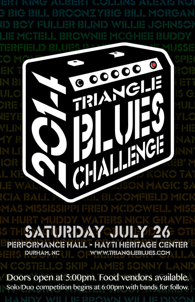 2014 Blues Challenge poster