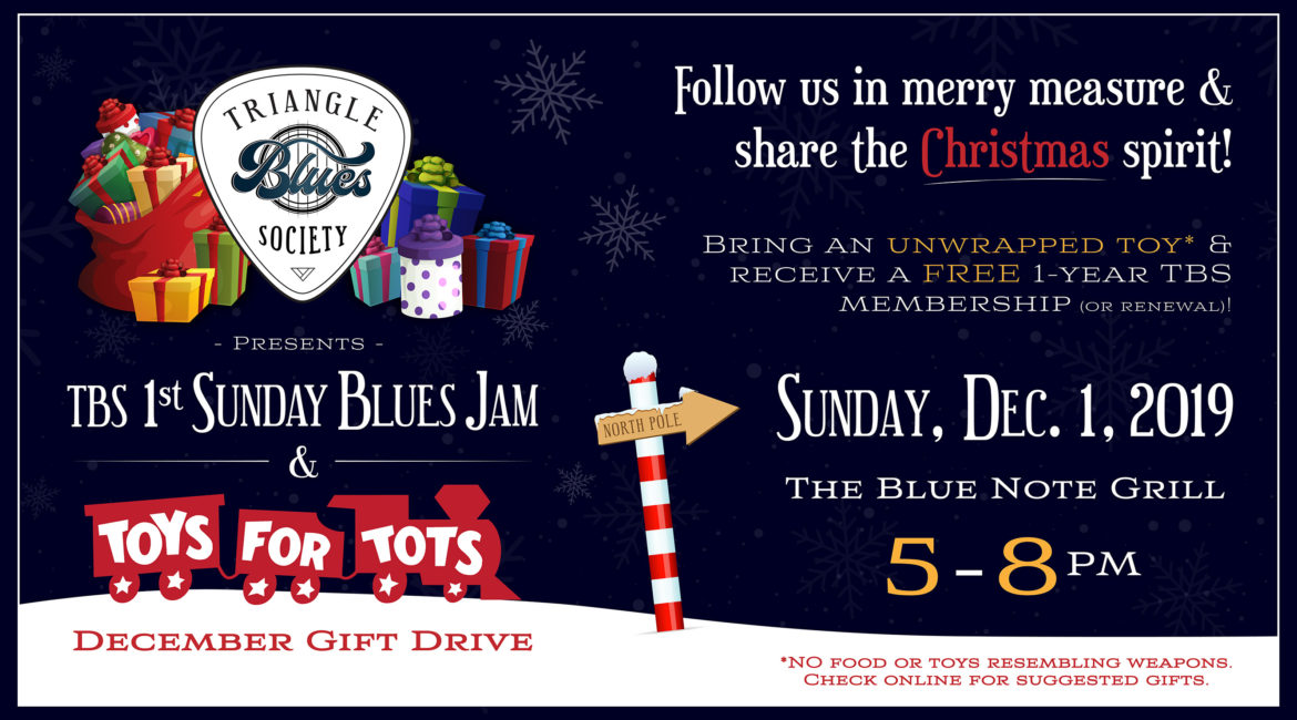 TBS 1st Sunday Blues Jam & Toys For Tots