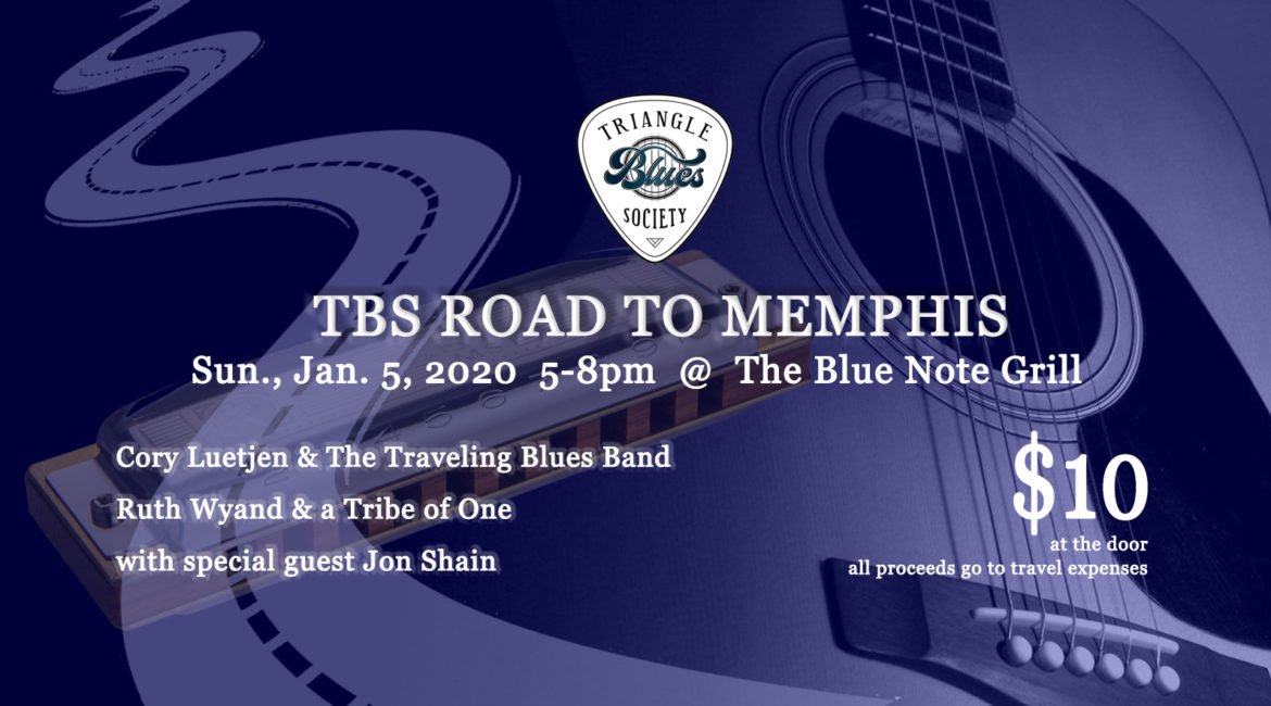 TBS Road to Memphis: Cory Luetjen & the Traveling Blues Band, Ruth Wyand & the Tribe of One, Jon Shain